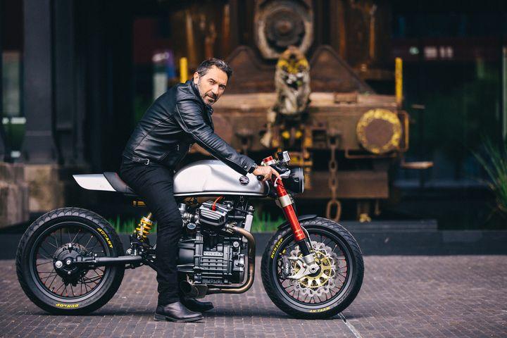 Sacha Lakic y su Honda CX500 Cafe Racer