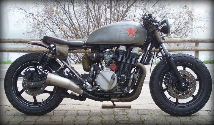 Honda CB750 Seven Fifty Rat Bike «Babushka» – Alex