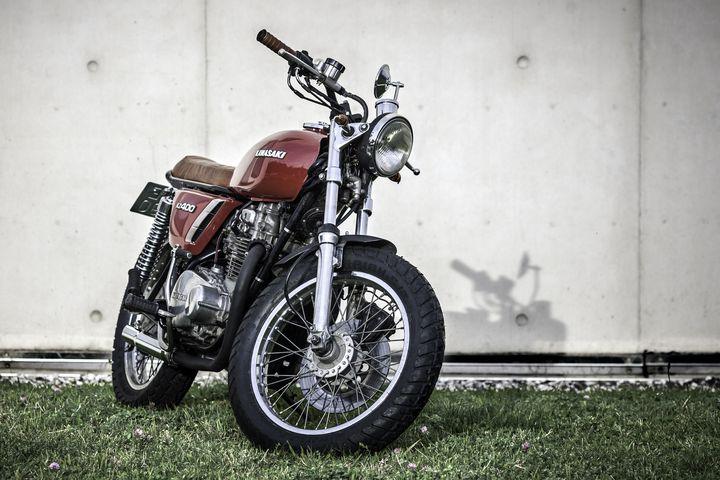 Kawasaki KZ400 Brat Style - Rubén Gonzalez 2