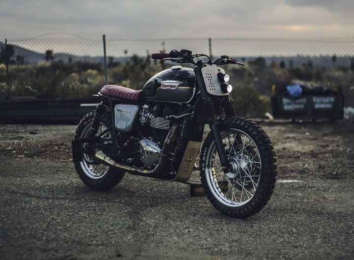 Triumph Bonneville T100 Scrambler by Kinetic Motorcycles 1