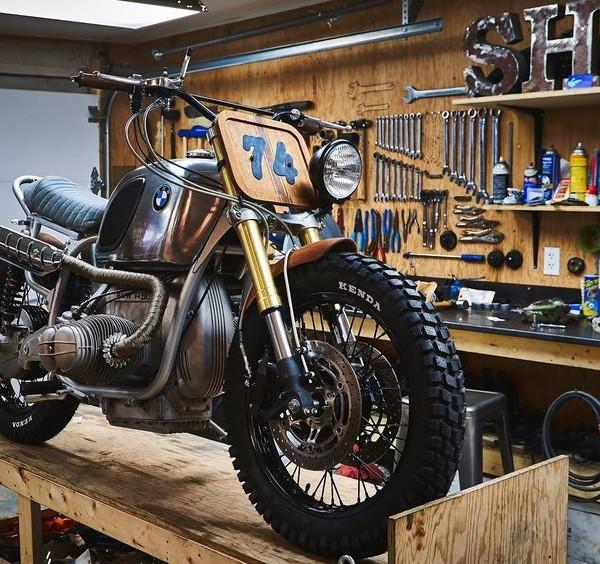 BMW R90 Scrambler Wood Style – Garage Sheriff