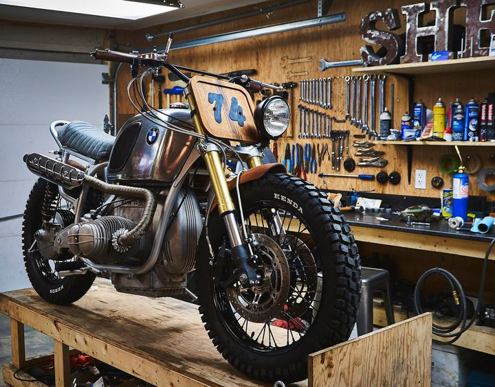 BMW R90 Scrambler Wood Style - Garage Sheriff