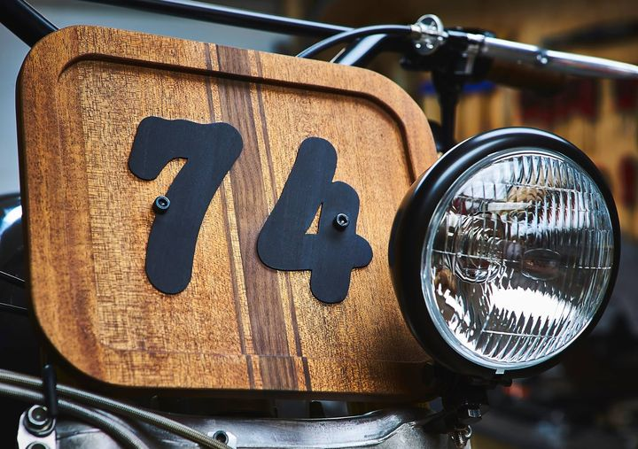 BMW R90 Scrambler Wood Style - Garage Sheriff 3