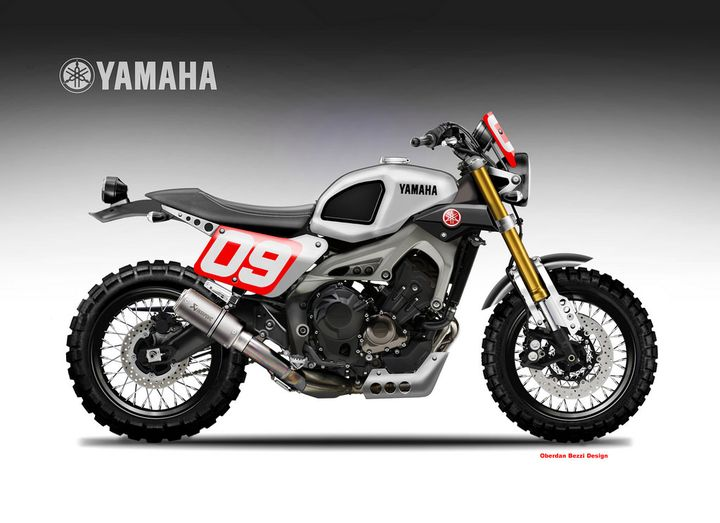 yamaha xsr900 cafe racer oberdan bezzi. Black Bedroom Furniture Sets. Home Design Ideas