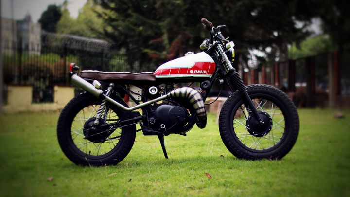 Yamaha GT50 1974 Brat Style by Cultura Cafe Racer Colombia