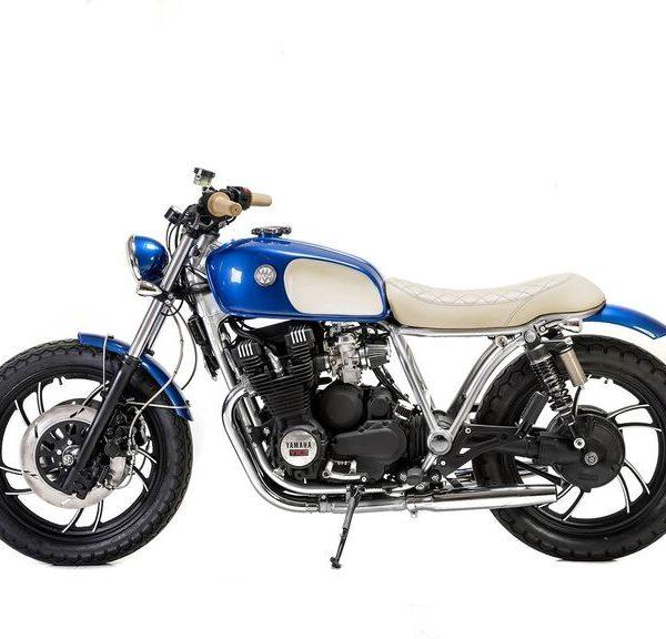 """Yamaha XJ750 Brat Style """"Bluebird"""" by Matteucci Garage"""