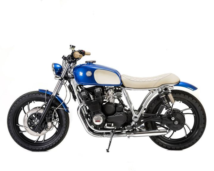 Yamaha XJ750 Brat Style «Bluebird» by Matteucci Garage