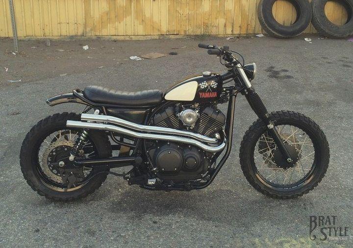 Yamaha SCR950 by Brat Style, mitad Brat y mitad Scrambler