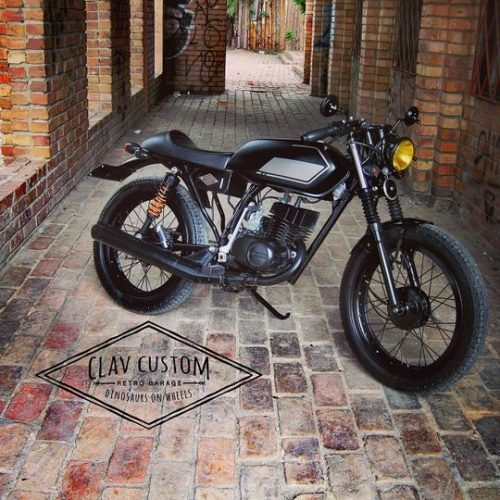 "Suzuki AX100 Cafe Racer ""Darkthrone"" by CLAV-CUSTOM Retro Garage"