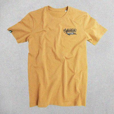 Camiseta Cafe Racer Pasión Tierra Logo Bordado Negro